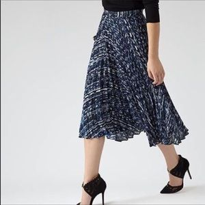 REISS Milan Graphic Pleated Pleated Skirt